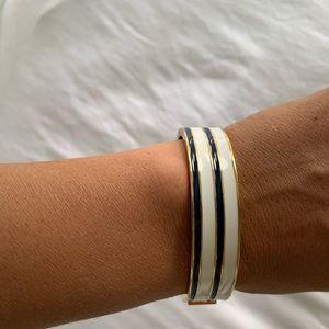 JCrew navy and white bangle bracelet